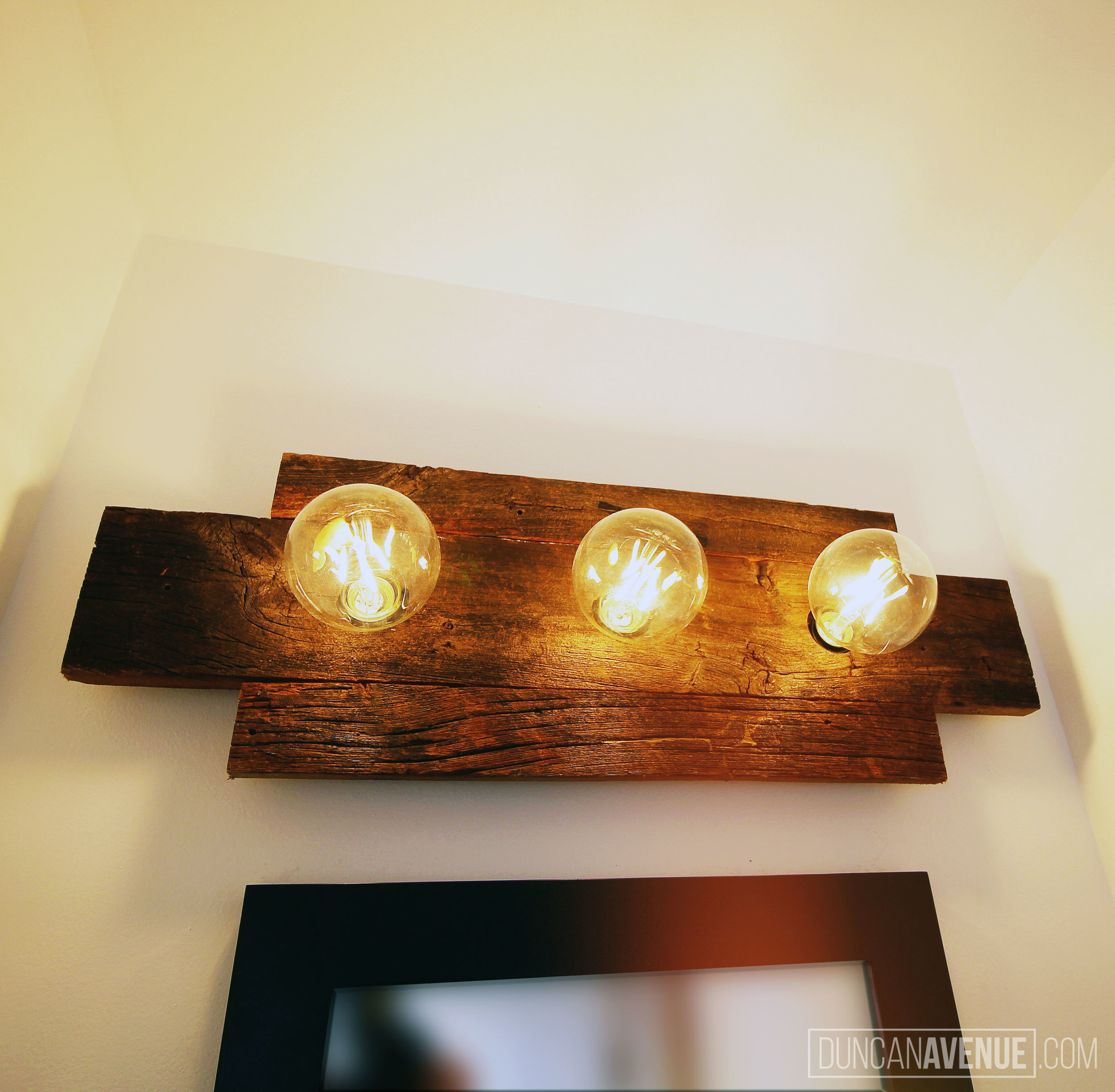 Custom light fixture design reclaimed wood by duncan avenue group hudson valley new