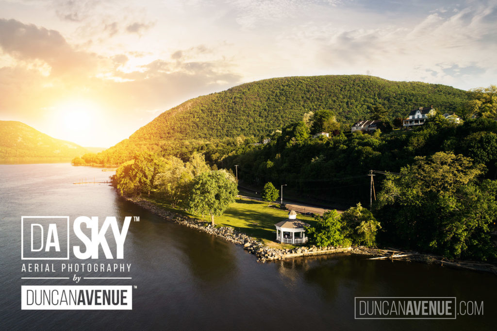Bannerman's Island and Cornwall Landing by DA SKY - Aerial Photography in Hudson Valley