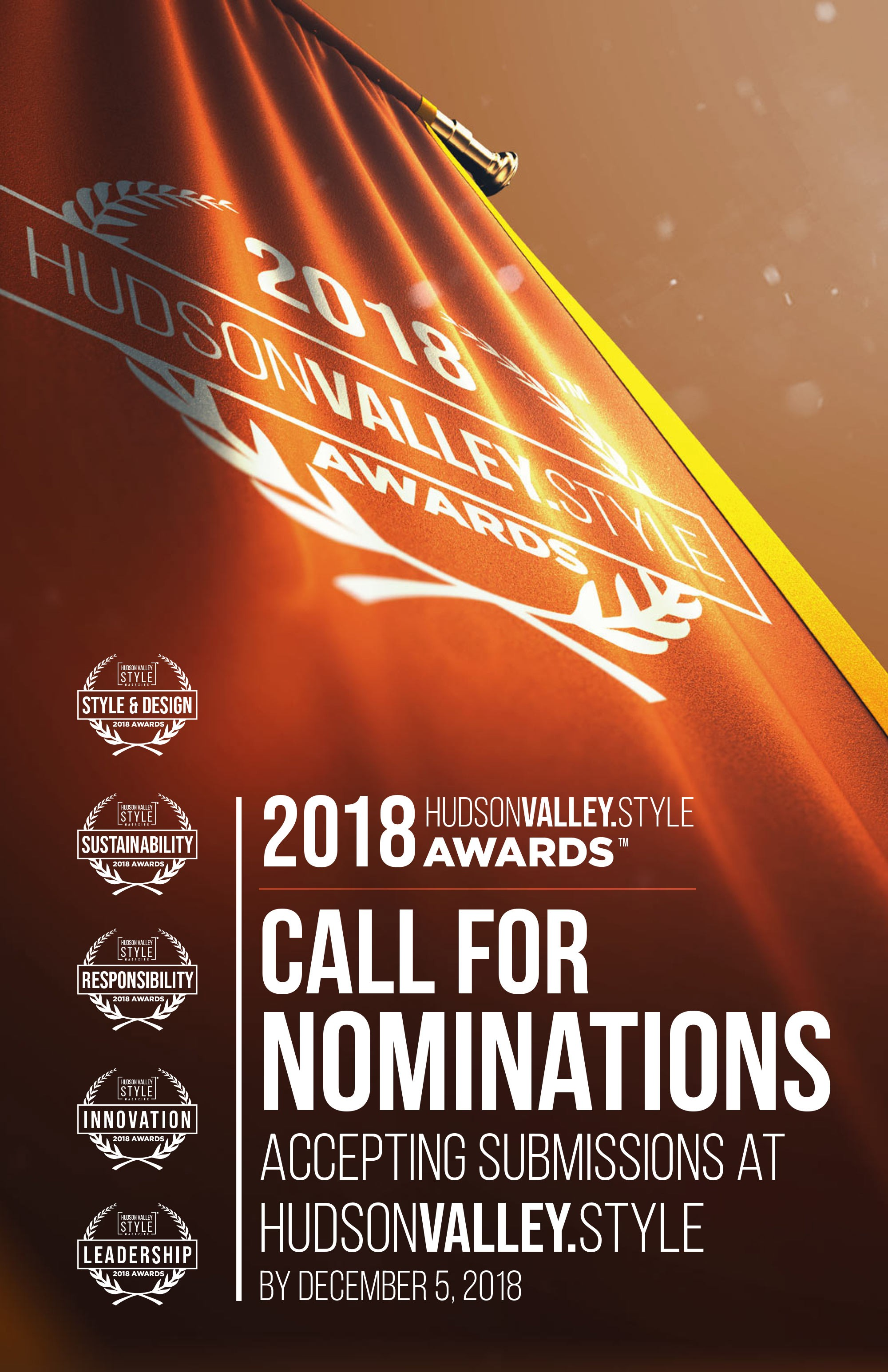 Call for Nominations: 2018 Hudson Valley Style Magazine Awards