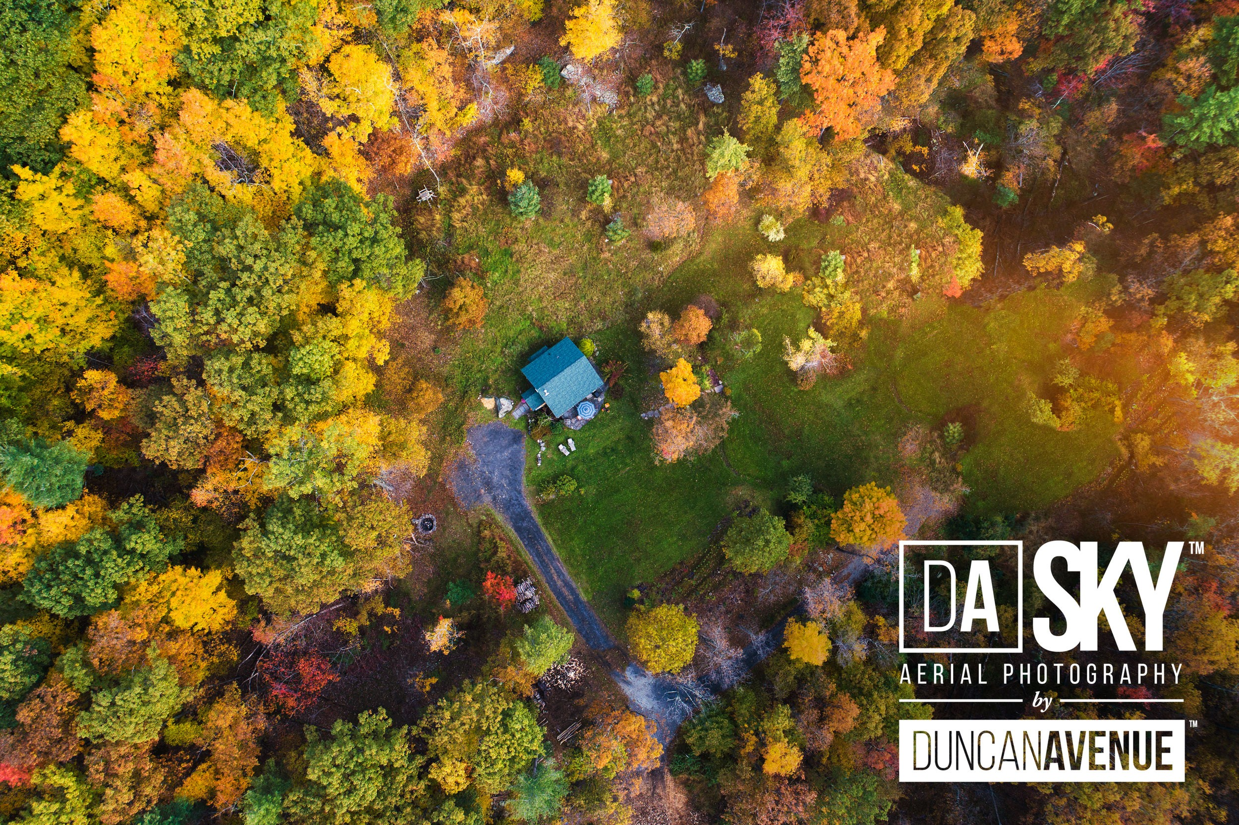 Fall in the Hudson Valley - Aerial Photography by DA SKY