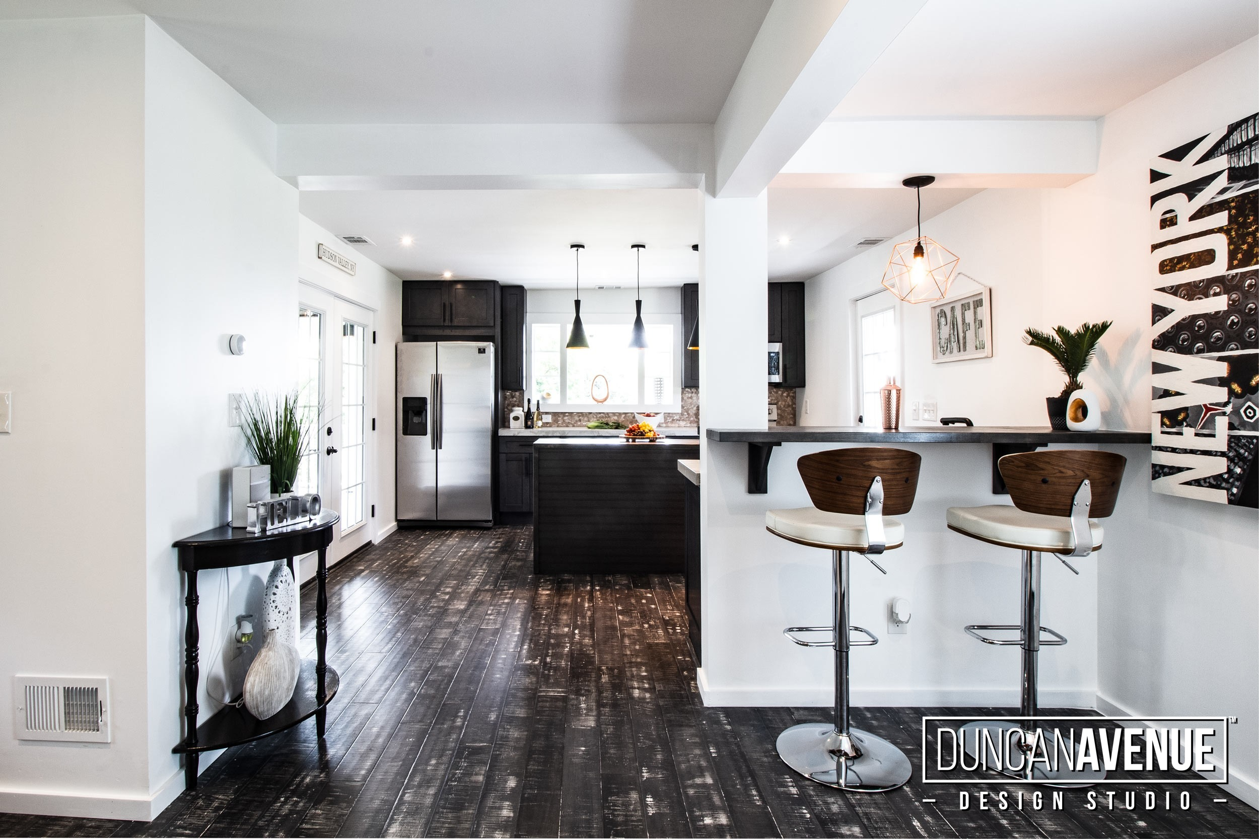 Farmhouse Reinvented - Interior Design Project in Marlboro, New York. Design by Duncan Avenue Studio - Maxwell & Dino Alexander. Construction by ToughConstruct   Hudson Valley