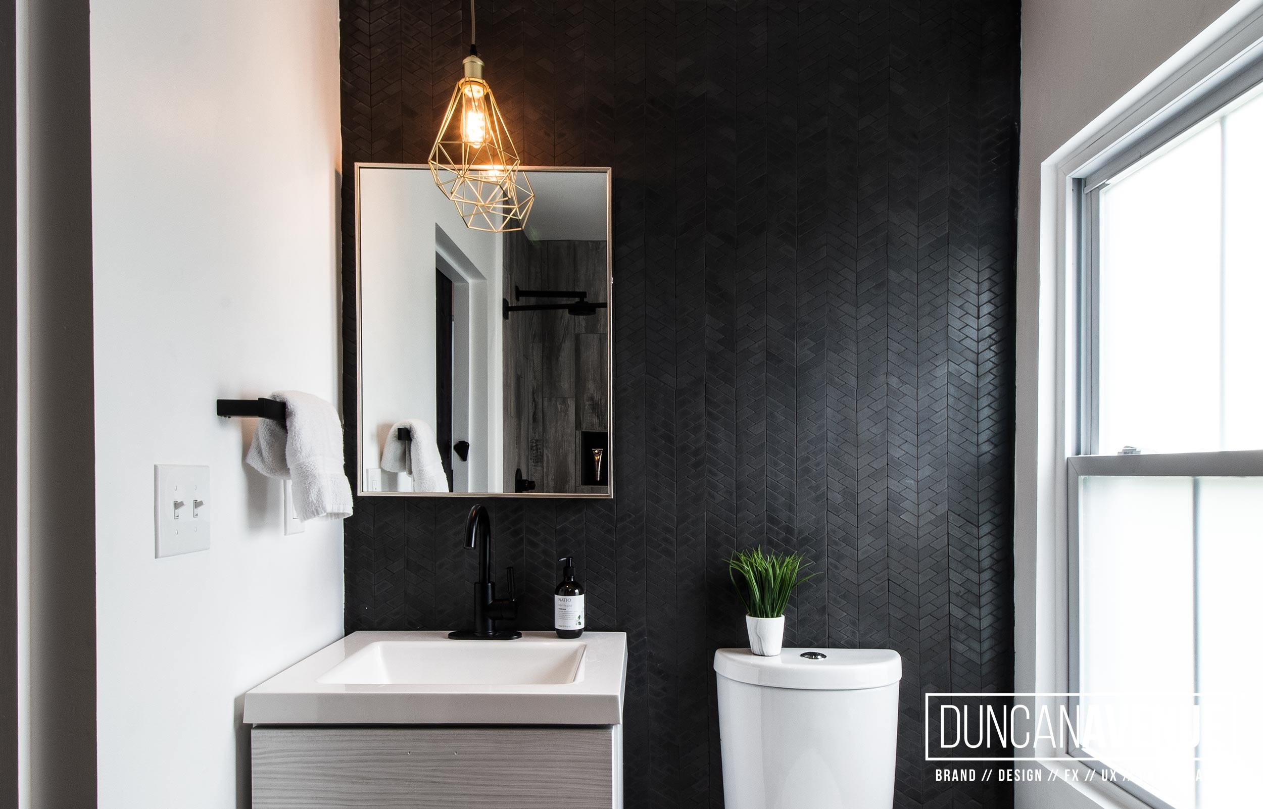 Modern Rustic Bathroom Design - Duncan Avenue Interior Design Studio