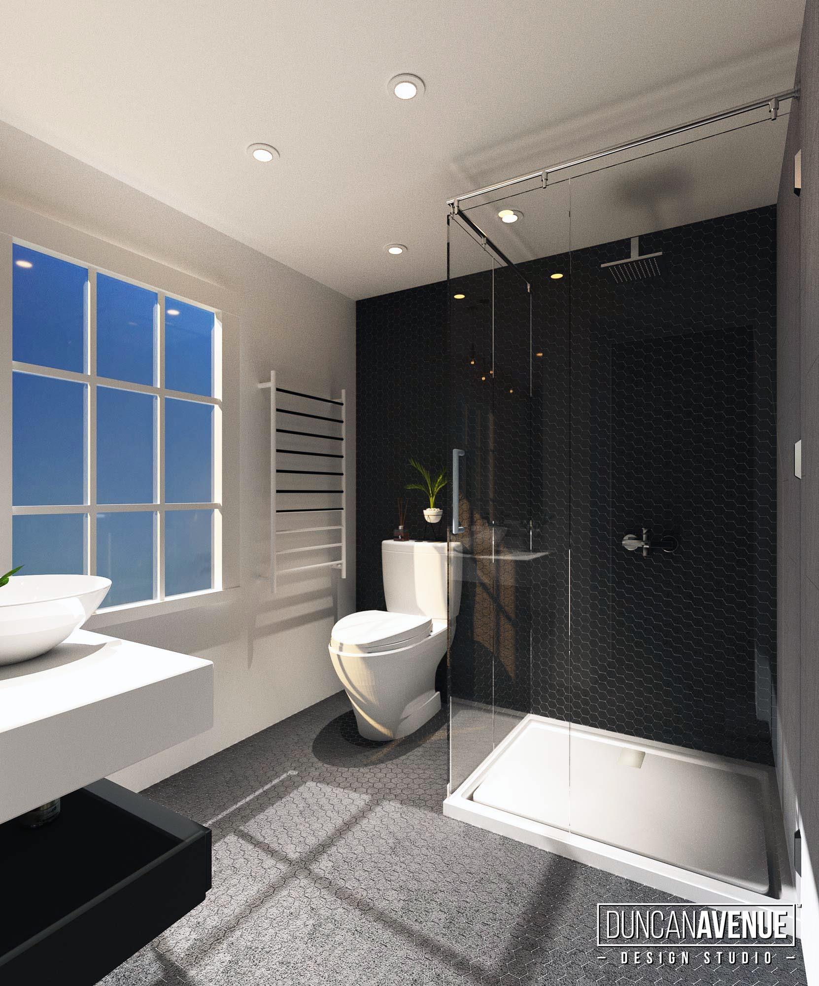 Modern Rustic Kitchen and Bathroom Interior Design Project in Cornwall on Hudson, NY Designer: Maxwell L. Alexander // Duncan Avenue Interior Design Studio / Hudson Valley