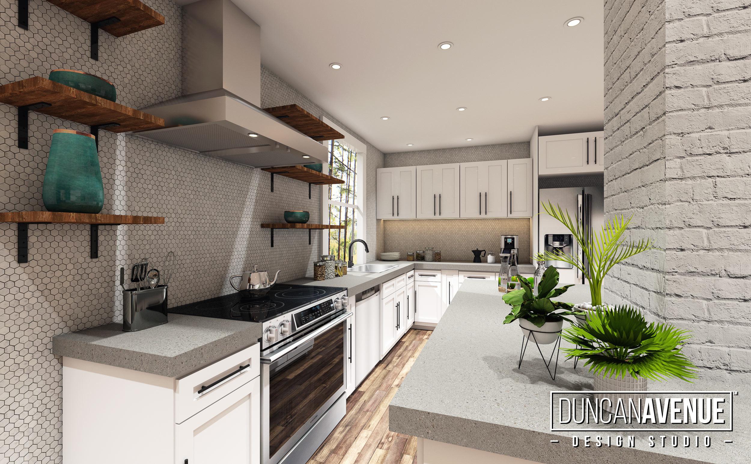 Modern Farmhouse Interior Design Project in Monticello, NY - Duncan Avenue Design Studio - Designer Maxwell L. Alexander