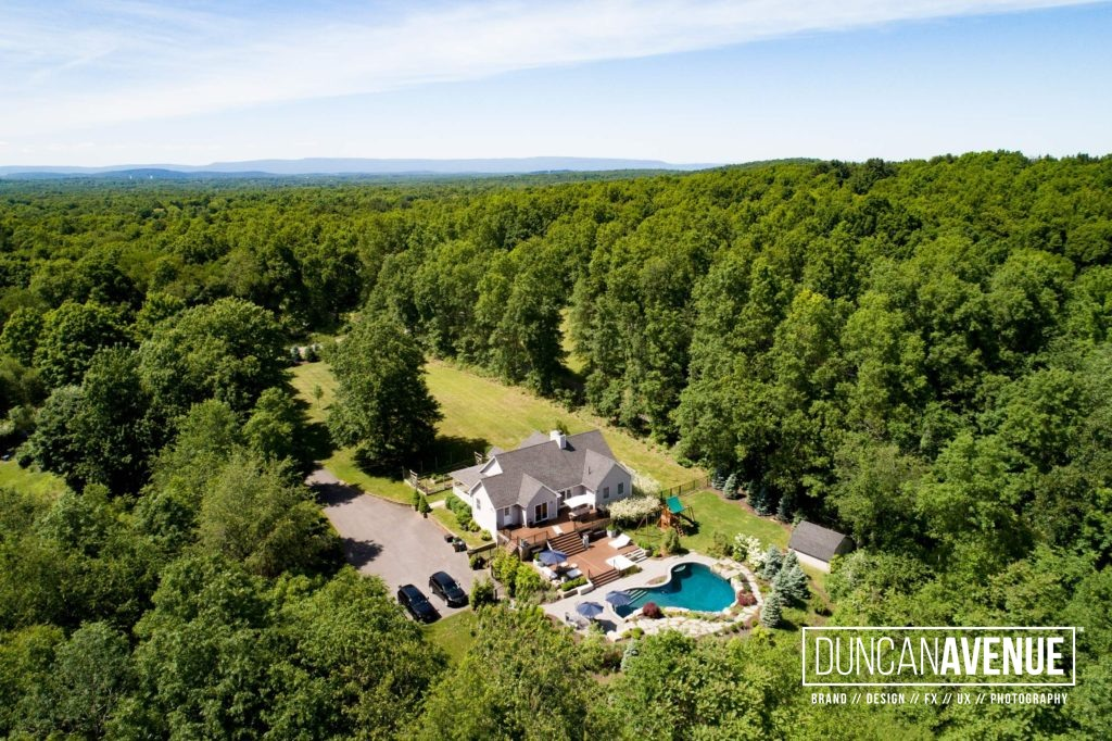 Aerial Photoshoot in Hudson Valley, New York for Almax Realty