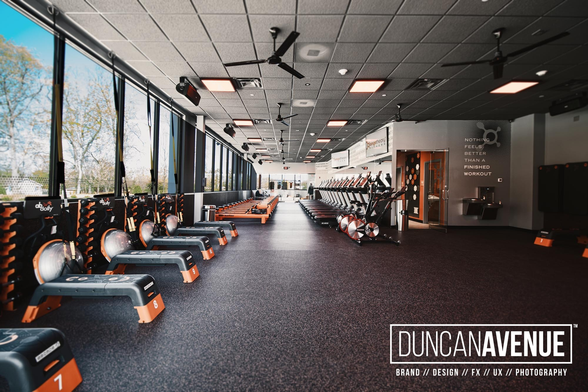 Orange Theory Fitness Photoshoot by Duncan Avenue Commercial and Business Photography Studio