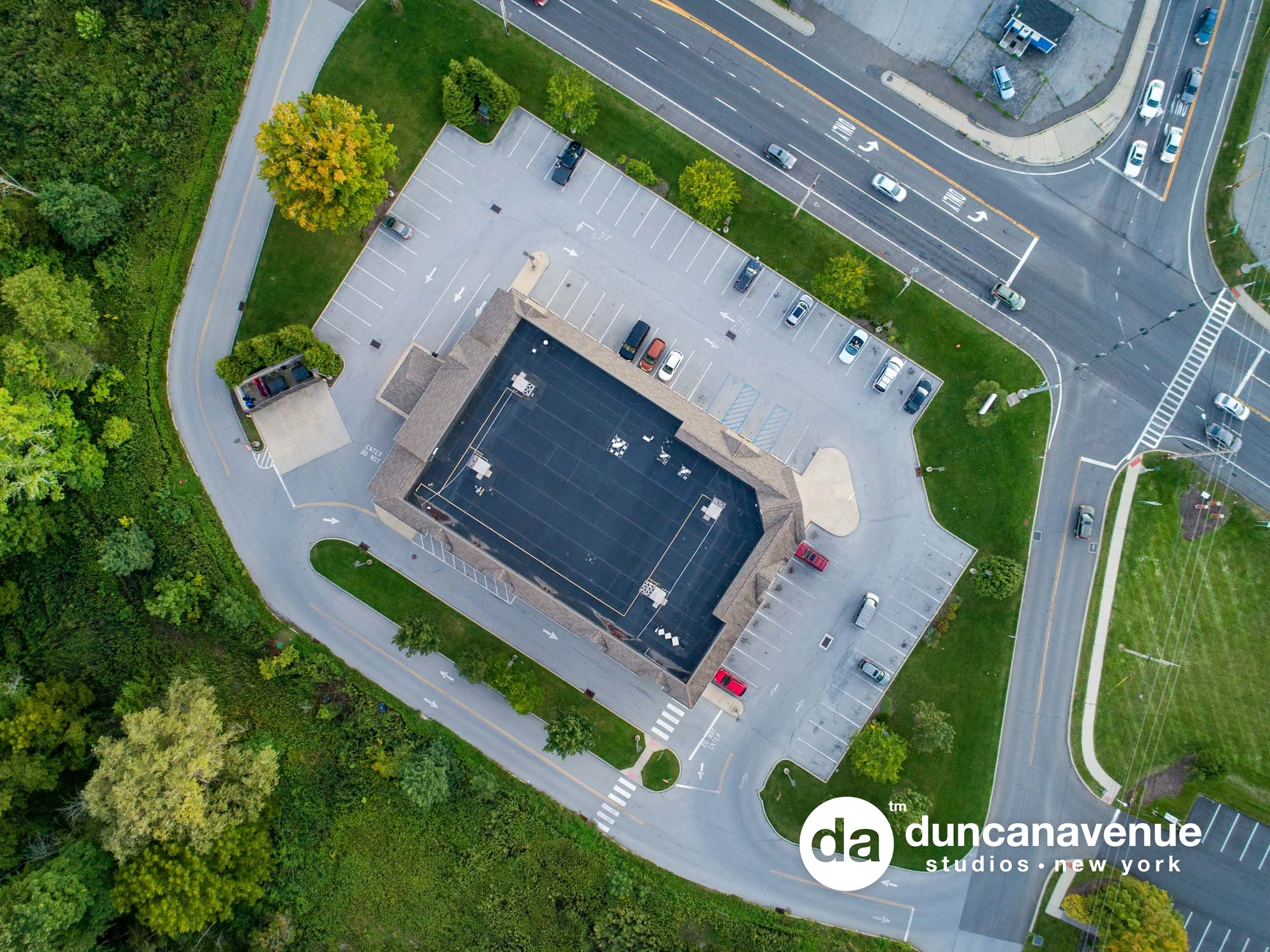 Walgreens, Highland, New York – Commercial Real Estate, Aerial, and Twilight, Dusk Photography by Duncan Avenue Studios – Hudson Valley, Catskills, and Westchester, NY