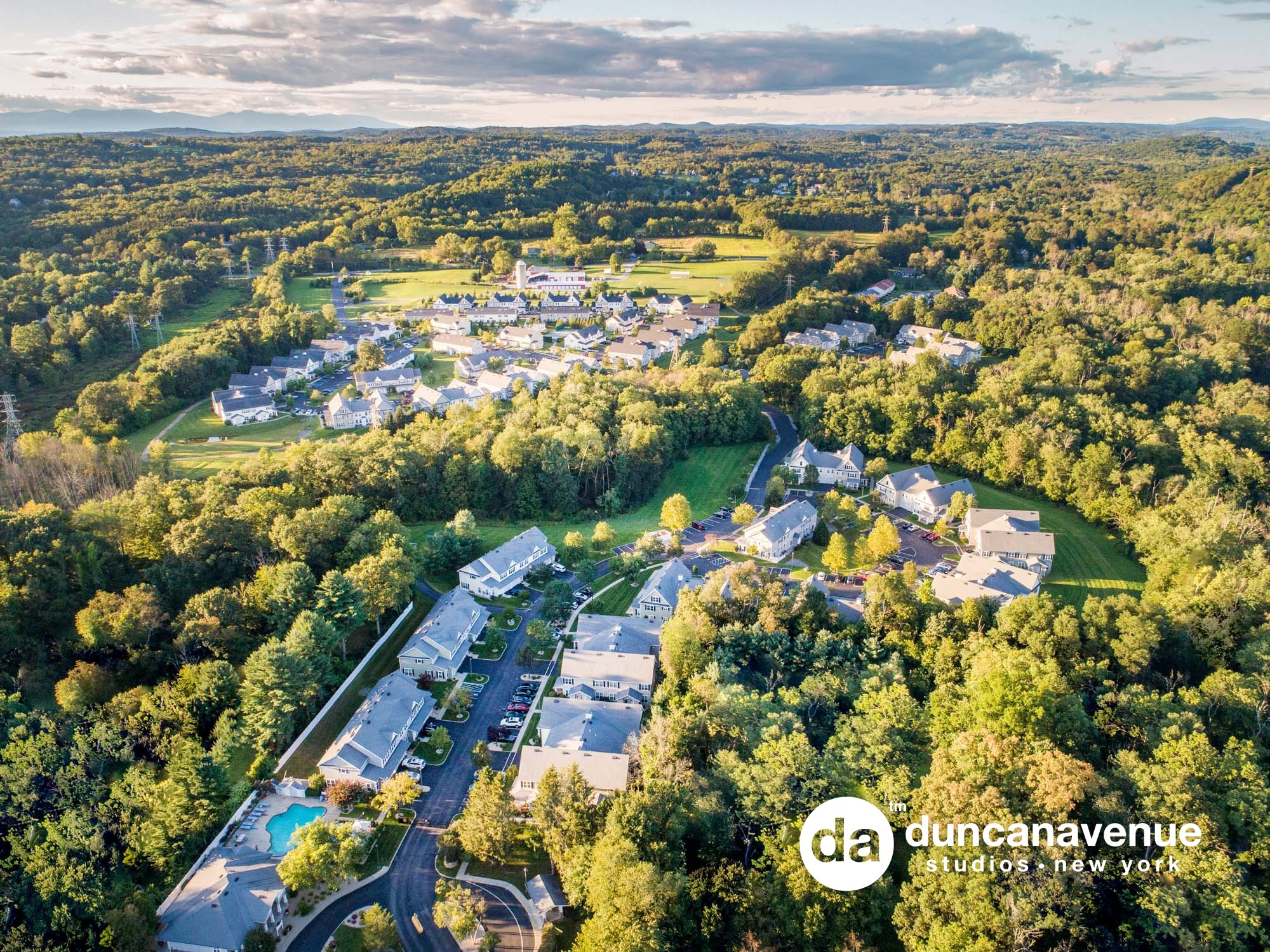 Hudson Valley Real Estate and Aerial Photography Galley – Brookside Meadows Luxury Rental Community in Pleasant Valley, NY – Real Estate Photography Project by Duncan Avenue Studios