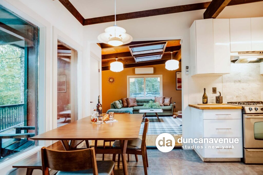 Woodstock, NY Airbnb Listing Photography – Twilight Photography – Dusk Photography – Interior Photography – Duncan Avenue Studios – New York